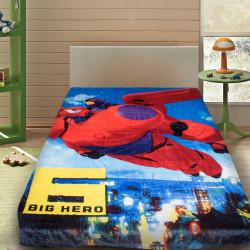 3D Одеяло за детско легло от мик бръш ''Big Hero''
