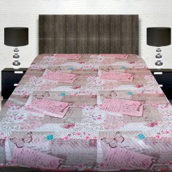 Луксозна двулицева кувертюра за спалня Пеперуди