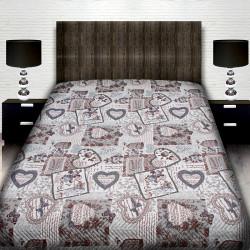 Луксозна двулицева кувертюра за спалня LOVE