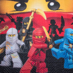 Луксозна капитонирана 3D кувертюра Ninjago