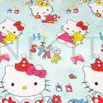 Луксозна двулицева капитонирана кувертюра Hello Kitty
