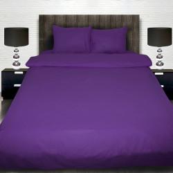 Комплект от лилаво луксозно спално бельо