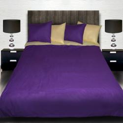 Комплект от луксозно двулицево спално бельо Violett