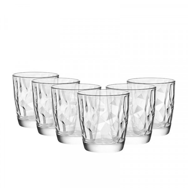 Комплект 6 бр. Чаши за уиски - Bormioli Rocco Diamond - 390мл.