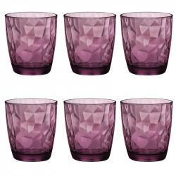 Комплект 6 бр. Чаши за уиски - Bormioli Rocco Diamond Purple - 390мл.