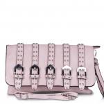 Кожена дамска чанта с катарами 5119